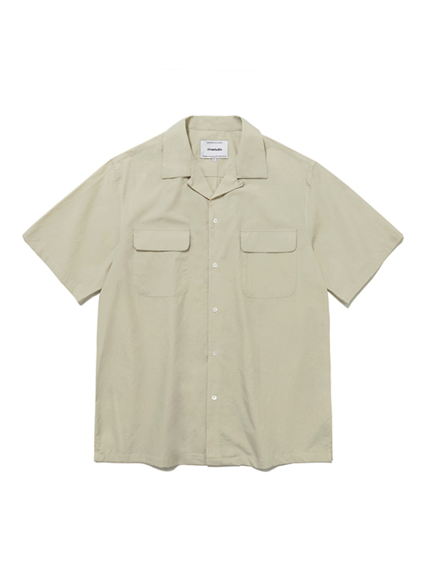 TWO POCKET SHIRTS IS [BEIGE]