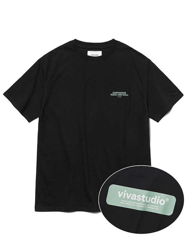 BOX LOGO SHORT SLEEVE JS [BLACK]