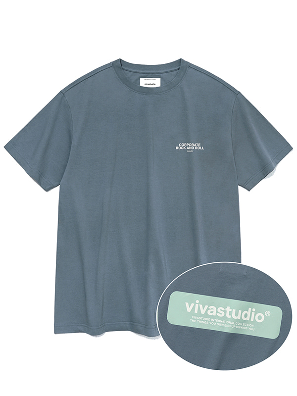 BOX LOGO SHORT SLEEVE JS [COOL GREY]