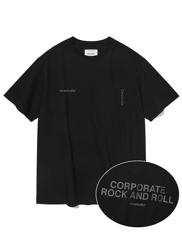 NEW CORPORATE SHORT SLEEVE JS [BLACK]